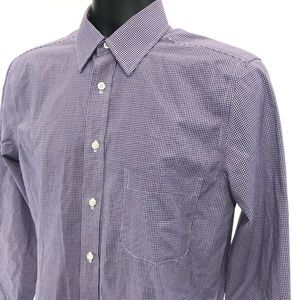 Stafford Fitted Travel Shirt Mens Size 15 32 / 33